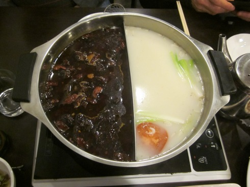 The yin and the yang of hot pots.