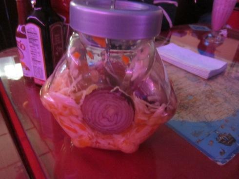 Salvadorian sauerkraut