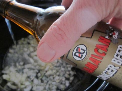 Ginger beer going in.