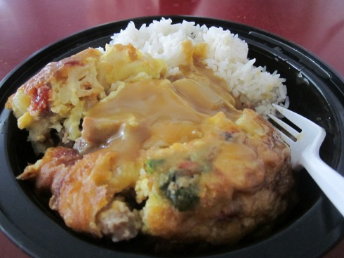 Egg foo young...with brown gravy