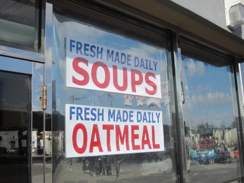 "Does ""Plus"" mean that fresh made soups and oatmeal are available along with coffee and donuts? I didn't ask."