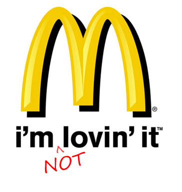 No love for McDonald's on Arthur Avenue.
