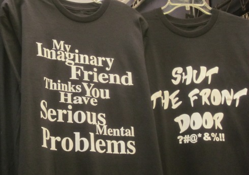 Witty t-shirts for sale.