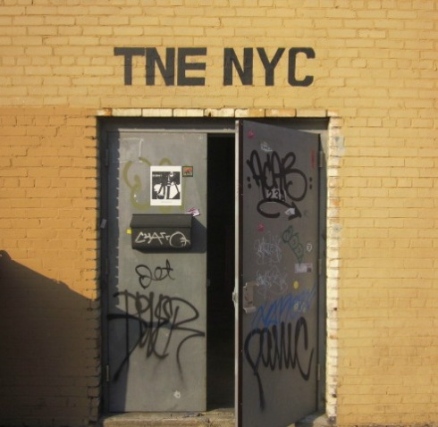 The door to TNE's headquarters.