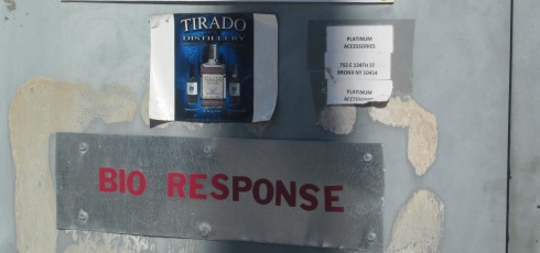 The Tirado Distillery sign