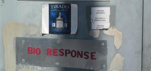 The Tirado Distillery sign