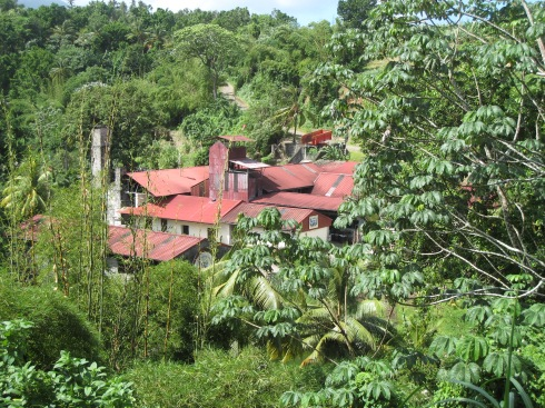 """One of the distillery's on Martinique """"route des rhums."""""""