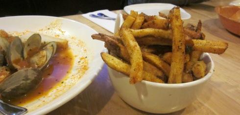 Cajun fries and clams