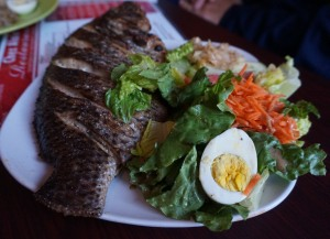 The monster tilapia, Senegalese style